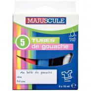 Gouache en pate assorti - Boîte de 5 tubes 10ml