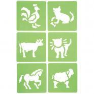 """Pochoirs """"Les animaux"""" - Paquet de 6"""