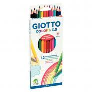 Crayon de couleur Giotto Colors 3.0 - Pochette de 12
