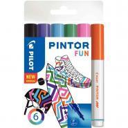 Marqueur Pintor fun pointe fine - Pochette de 6