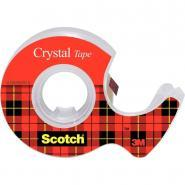 Scotch - Rouleau adhésif transparent  - 19mm x 7,5m + devidoire