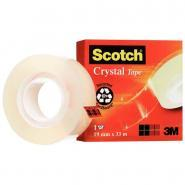 Scotch - Rouleau adhesif cristal - 19mm x 33m