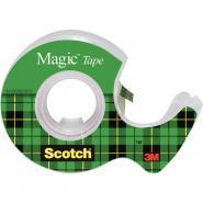 Scotch Magic - Rouleau adhésif invisible avec devidoire - 19mm x 7,5m