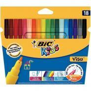 Feutres coloriage pf visa assorti - Pochette de 18