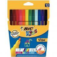 Feutres coloriage pf visa assorti - Pochette de 12