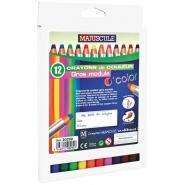 Crayons de couleur gros module O'Color - Boîte de 12
