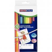 Crayons de couleur - Boîte de 12