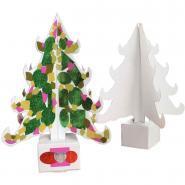 Sapins en carton blanc à décorer - Lot de 10