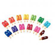 Boîte de 13x2 Glaces-lettres de couleurs assorties