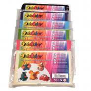 Argile naturelle colorée autodurcissante DIDACOLOR - Lot de 6 pains de 500g