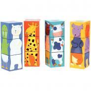 """Djeco - Cubes puzzles """"Drôles d'animaux"""""""