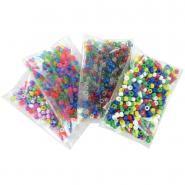 Perles cassis mixtes en plastique - Sachet de 1 600
