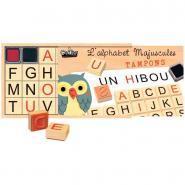 Coffret de 26 tampons alphabet majuscule