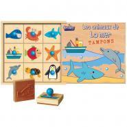 Coffret de 9 tampons les animaux de la mer