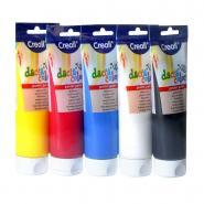 Gouache concentrée DACTA-COLOR - Lot de 5 tubes de 250 ml