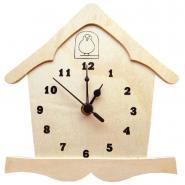 Nichoir horloge en bois avec mécanisme