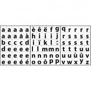 Maxi gommettes Alphabet - Lettres minuscules - Pochette de 910