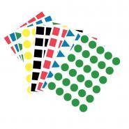 Maxi gommettes géométriques repositionnables - Pochette de 1200