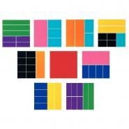 Rectangles fraction - Rainbow Fraction® Squares