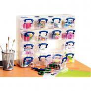 Organiseur de rangement - 16 boîtes incolores