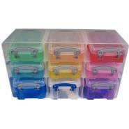 Organiseur de rangement - 9 boîtes multicolores