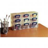 Organiseur de rangement - 9 boîtes incolores