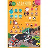 Poster pédagogique en PVC - 76x52 cm - Le code de la route