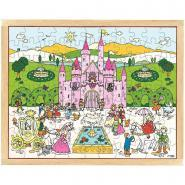 """Puzzle en bois de 99 pièces """"Le château de la princesse"""""""