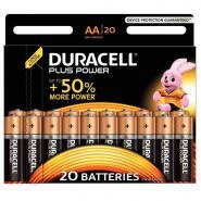 Piles 1,5V LR06 Duracell Plus Power - Blister de 20