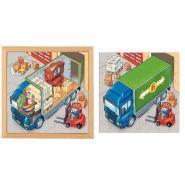 """Puzzle à 2 niveaux """"Camion de déménagement"""""""
