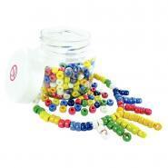 Perles en verre cassis lustrées - Bocal de 250g