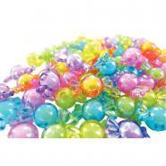Perles bonbons translucides en plastique - Sachet de 60
