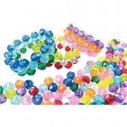 Perles facette en plastique - Sachet de 1 600