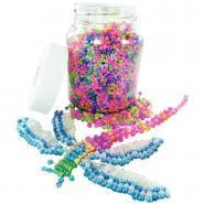 Perles rocailles nacreés - Bocal de 500g
