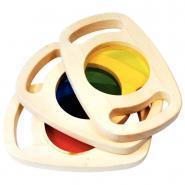 Bloc couleurs en bois - Boîte de 3