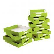 Bacs de rangement verts - Petit modèle - Lot de 12