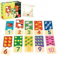 Puzzles duo en bois, de 1 à 10