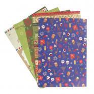 Papier de riz Motif Noël - A4 - Pochette de 5 feuilles