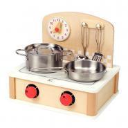 Cuisinière en bois compact avec 2 foyers