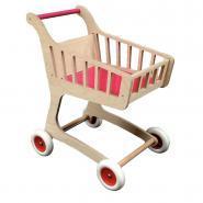 Chariot de supermarché en bois