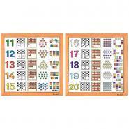 Tableaux Multi activités de 11 à 20 - Lot de 2