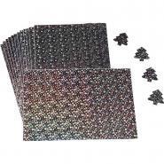 Papier métallisé adhésif holographique 160g -  A4 - Pochette de 15 feuilles