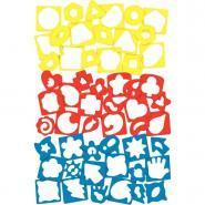 Pochoirs et gabarits de formes diverses - Sachet de 27