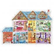 """Puzzle contour 25 pièces """"Maison de poupée"""""""