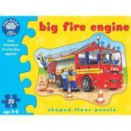 """Puzzle contour de 20 pièces """"Le camion de pompiers"""""""