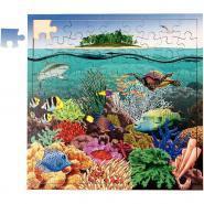 Puzzle de 81 pièces en bois - Barrière corail