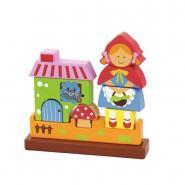 """Puzzle magnétique 3D en bois """"Le petit chaperon rouge"""""""