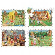 "Puzzles d'observation soft de 15 pièces ""Les contes"" - Lot de 4"