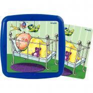 """Puzzles à cadres de 6 pièces """"La journée de bébé"""" - Lot de 4"""