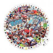 Puzzle d'observation rond de 208 pièces - Les pompiers